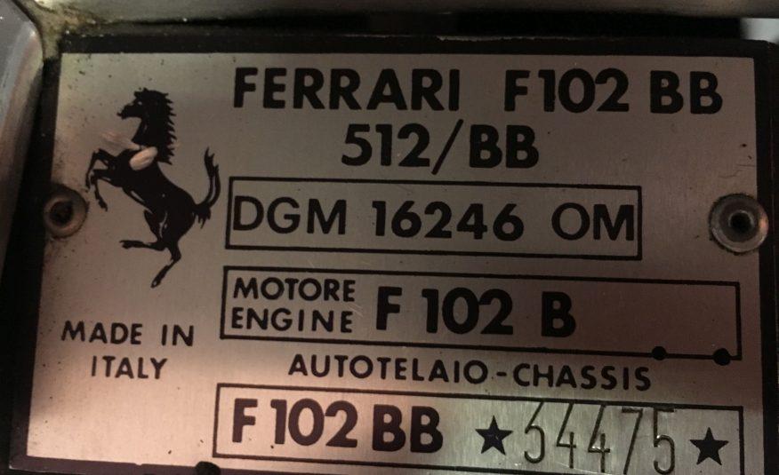 Ferrari 512 BB (Carburettor)